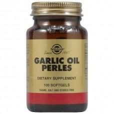 Часникове масло, Garlic Oil Perles, Solgar, концентрат, 100 капсул