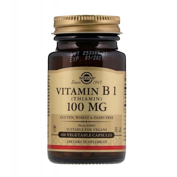 Тіамін (Vitamin B1), Solgar, вітамін В1, 100 мг, 100 капсул