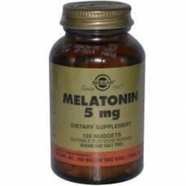 Мелатонін, Melatonin, Solgar, 5 мг, 60 таблеток