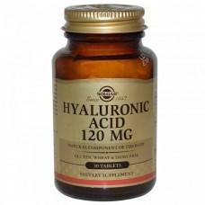 Гіалуронова кислота, Hyaluronic Acid, Solgar, 120 мг, 30 таблеток