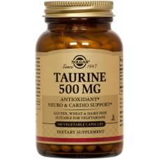 Таурин, Taurine, Solgar, 500 мг, 100 капсул