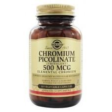 Хром піколінат, Chromium Picolinate, Solgar, 500 мкг, 60 капсул