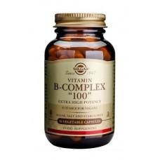"""Вітамін В-100 комплекс, B-Complex """"100"""", Solgar, 50 капсул"""