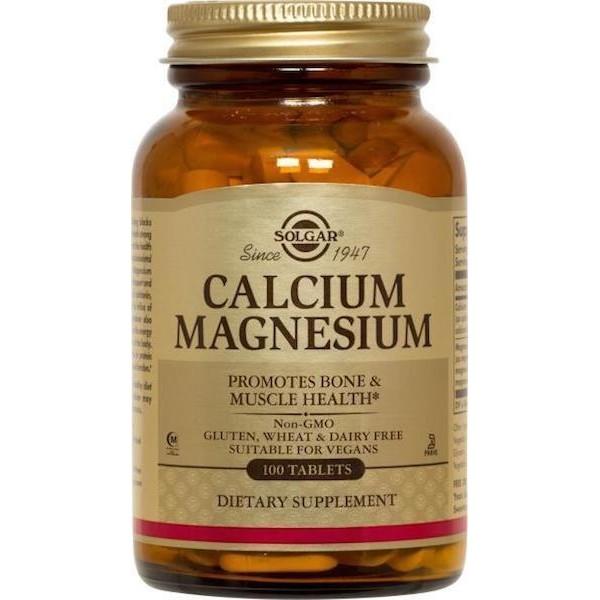 Кальцій і магній, Calcium Magnesium 333/133 mg, Solgar, 100 таблеток