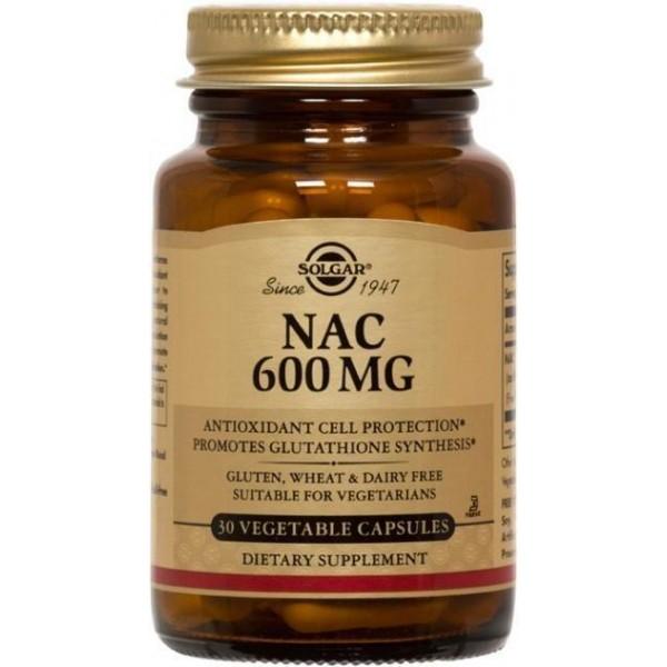 Ацетилцистеїн, NAC, Solgar, 600 мг, 30 капcул