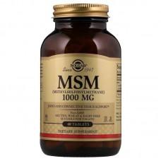 Метилсульфонілметан, MSM, Solgar, 1000 мг, 60 таблеток