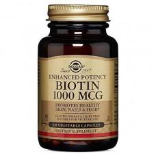 Біотин, Biotin, Solgar, 1000 мкг, 100 капсул