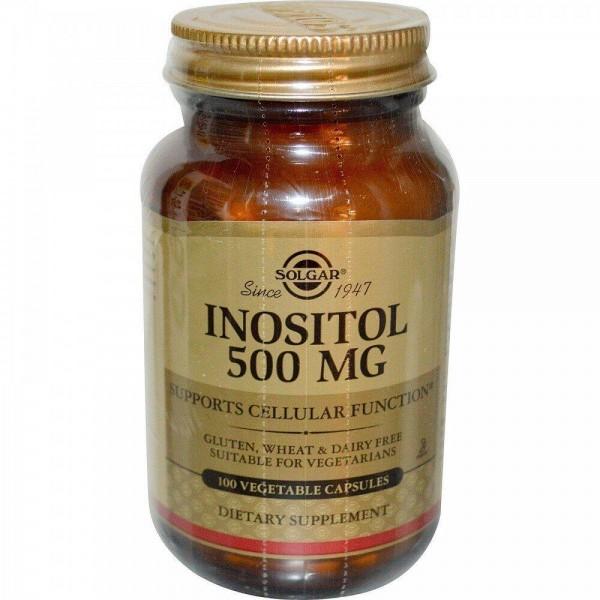 Інозитол, Inositol, Solgar, 500 мг, 100 капсул