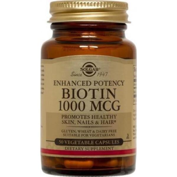 Біотин, Biotin, Solgar, 1000 мкг, 50 капсул