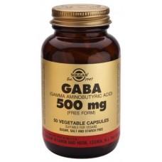 ГАМК, Гамма-аміномасляна кислота (GABA), Solgar, 500 мг, 50 капсул