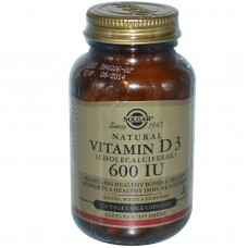 Вітамін D3, Vitamin D3, Solgar, 600 МО, 120 капсул