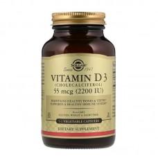 Вітамін Д3, Vitamin D3, Solgar, 55 мг (2200 МО), 50 капсул