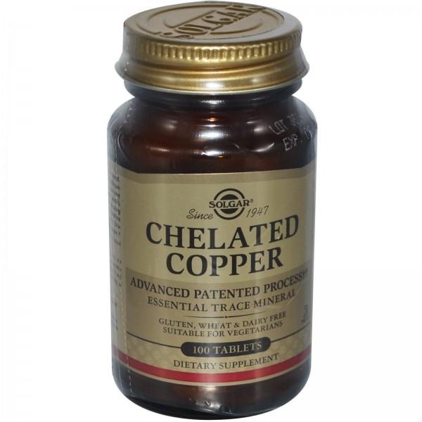Мідь (Chelated Copper), Solgar, 100 таблеток
