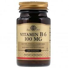 Вітамін В6, Vitamin B6, Solgar, 100 мг, 100 таблеток