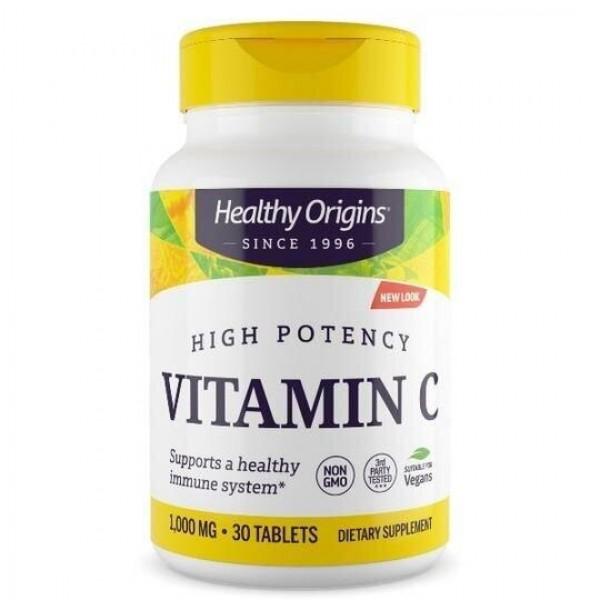 Вітамін C, Vitamin C, Healthy Origins, 1,000 мг, 30 таблеток