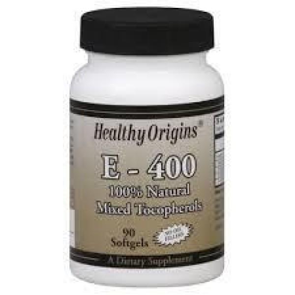Вітамін Е, Vitamin E, Healthy Origins, 400 МО, 90 капсул