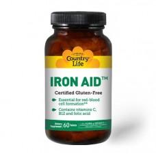 Iron Aid 15mg 60 Tabs Country Life