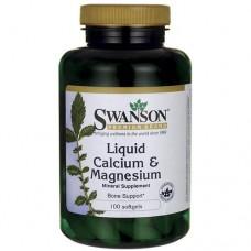 Liquid Calcium & Magnesium 300/150 mg 100 softgels Swanson
