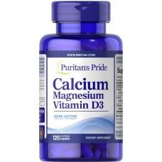 Calcium Magnesium with Vitamin D 120 tablets Puritan's Pride