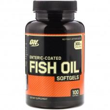 Омега 3 Enteric Coated Fish Oil 100 Softgels Optimum Nutrition