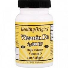Vitamin D3 2400 IU 120 Softgels Healthy Origins