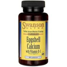 Ultra Eggshell Calcium with Vitamin D3 60 Caps Swanson
