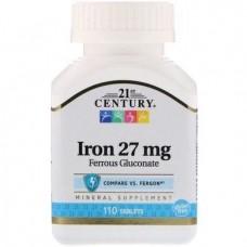 Iron 27 mg 110 Tablets 21st Century