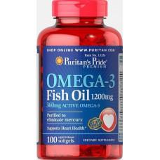 Омега-3 риб'ячий жир Omega-3 Fish Oil 1200 mg 200 Softgels Puritan's Pride