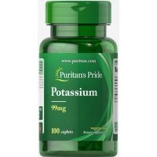 Калій Potassium Gluconate 99 mg 100 Tablets Puritan's Pride