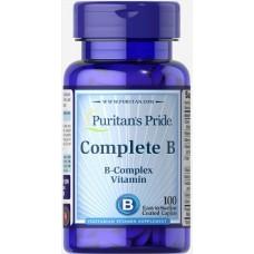 Комплекс вітаміну Б Complete B (Vitamin B Complex) 100 Tablets Puritan's Pride