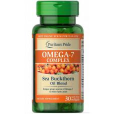 Обліпихова олія Omega-7 Complex Sea Buckthorn Oil Blend 30 Softgels Puritan's Pride