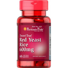 Червоний дріжджовий рис Red Yeast Rice 600 mg 60 Capsules Puritan's Pride