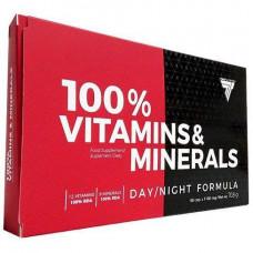 Вітаміни 100% VITAMINS & MINERALS 60caps