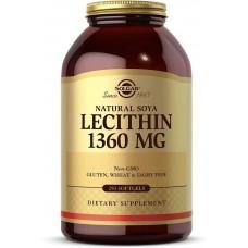 Lecithin 1360 mg natural soya 250 softgels Solgar