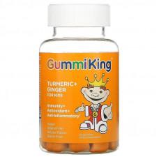 Turmeric + Ginger For Kids, Immunity + Antioxidant + Anti-Inflammatory 60 Gummies ( Mango) Gummi King
