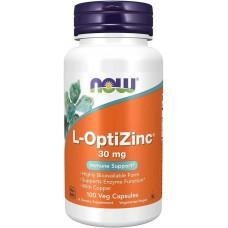 L-OptiZinc 30 mg with Copper 100caps NOW