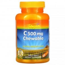 Вітамін C 500 mg 60 Chewables (Orange) Thompson