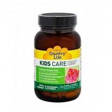 Вітаміни для дітей Kids Care 120 Tablets Country Life